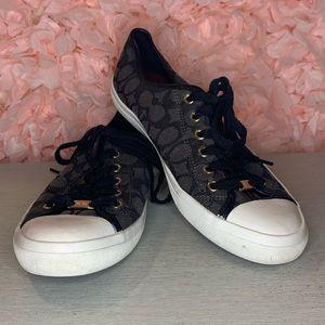 Coach Empire Signature Canvas Sneakers Black